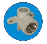 Настенное колено с металл. резьбой внутренней 1/2 ASG-plast d25 мм