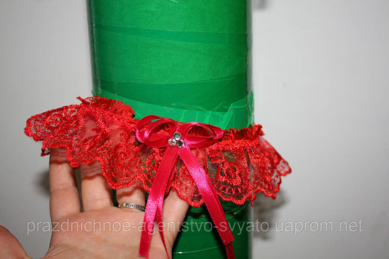 Подвязка невесты (красная)