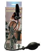 Чёрный анальный вибростимулятор с грушей Fanny Hills Black Butt Plug О103