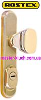 ROSTEX®  R-4 (нажимная),R-1 (не поворотная) Decor (4-го класса безопасности)матовое золото