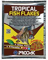 Комплексный корм Prodac Tropical Fish Flakes для тропических аквариумных рыб, 12 г
