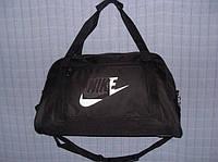 Багажная сумка 013672 большая (55х33х22, см) черная спортивная дорожная текстиль кожзам