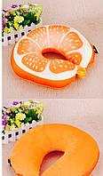 Подушка под голову апельсин