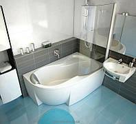 Ванна акриловая угловая асимметричная Ravak коллекция Rosa 95 160х95х47 R C581000000