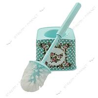 Ершик пластиковый (стакан ершик) 'Бирюзовые розы' фоторисунок Турция