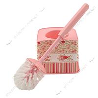Ершик пластиковый (стакан ершик) 'Розовые розы' фоторисунок Турция