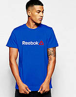 Мужская Футболка Reebok синего цвета, фото 1