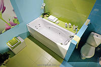 Ванна акриловая прямоугольная PoolSpa коллекция Klio 150х70х61 PWP65..ZN000000 + ножки