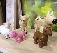 """Деревянная игрушка """"Набор сельскохозяйственных животных"""", Plan Toys"""