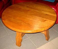 Журнальный столик  дубовый, круглый