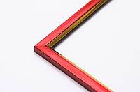 Фоторамка 10х15 багет 15 мм красная