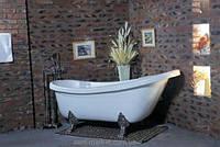 Ванна акриловая овальная Wisemaker 165х78х73 WA-1708-А перламутровая + львиные ноги (silver)