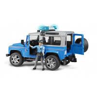 Игрушка - джип  Полиция  Land Rover Defender синий, свет и звук, + фигурка полицейского, М1:16, Bruder 02597
