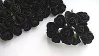 Розы латексные 1,5-2 см (12 шт)  черные