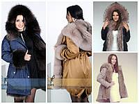 Модная зимняя верхняя женская одежда