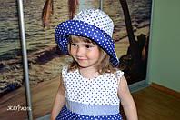 Хлопковая панама шляпка для девочки