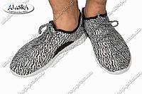 Детские кроссовки черно-белые (Код: 193)