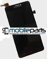 Оригинальный дисплей (модуль) + сенсор (тачскрин) для Lenovo A850 (черный) (С рамкой)
