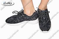 Женские кроссовки черные (Код: 114В)