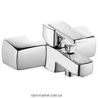 Смеситель однорычажный для ванны с коротким изливом Kludi коллекция Q-Beo хром 504430575