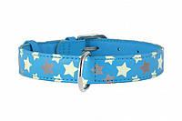 CoLLar Glamour - кожаный ошейник для собак (длина 30-39 см, диаметр - 20мм) (3586)