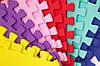 """Мягкий пол (коврик-пазл 45*45*1 см) Eva-Line """"Веселка"""" разноцветный, фото 3"""