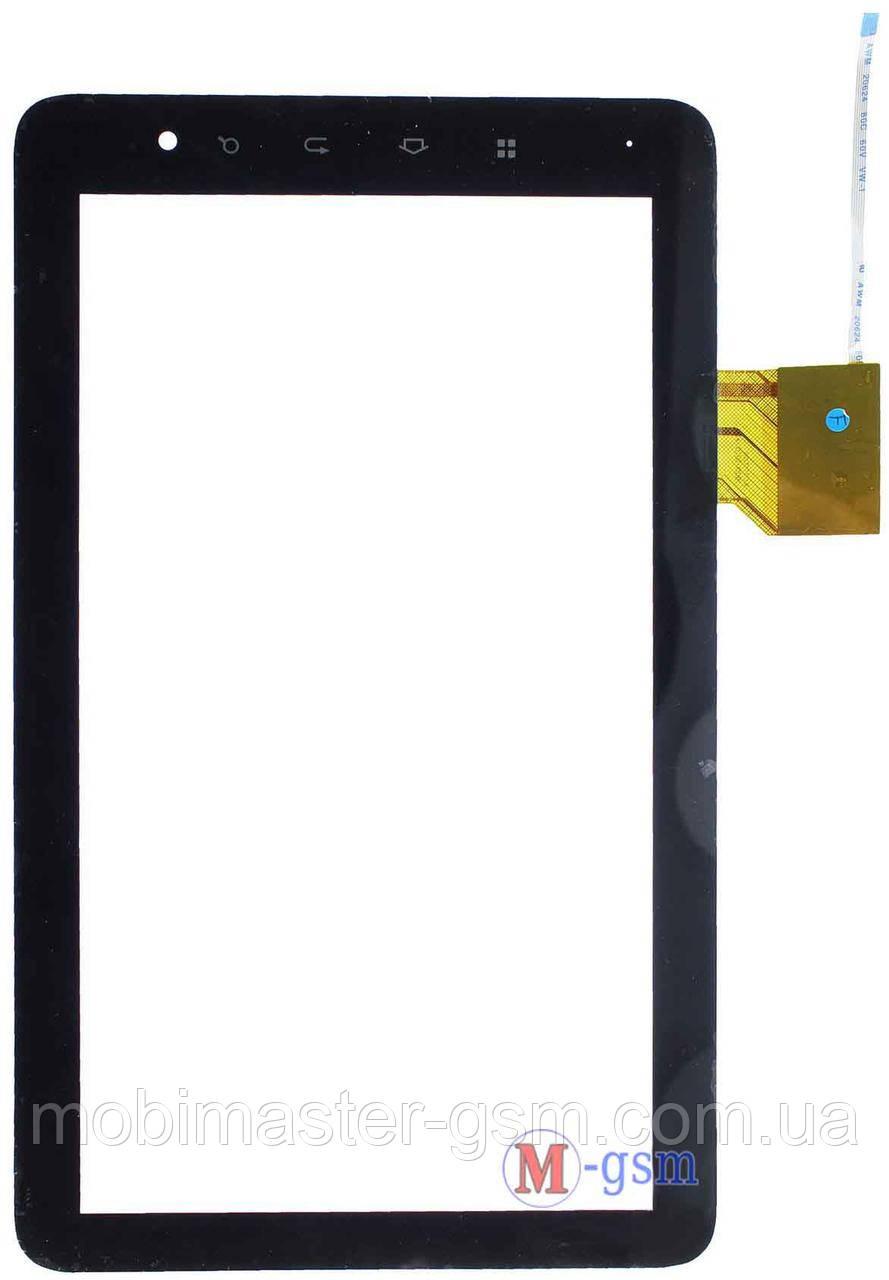 Тачскрин (сенсорный экран) (p/n:  04-1010-0081, 04-1011-0081 / IC: NT11003QG-88A ) черный