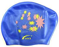 Шапочка для плавания для длинных волос QUICK