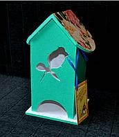Чайний будиночок декупаж 24*13*12 см Чайный домик из дерева