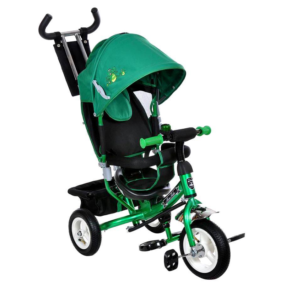 Велосипед трехколесный на надувных колесах Mini Trike 950D зеленый с черной рамой