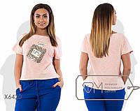 """Стильная женская футболка для пышных дам """" Духи """" Dress Code"""