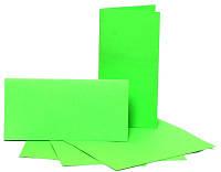 Заготовки для открыток, 5 шт., 10,3 х 7 см, цвет салатовый, 220 г/м2
