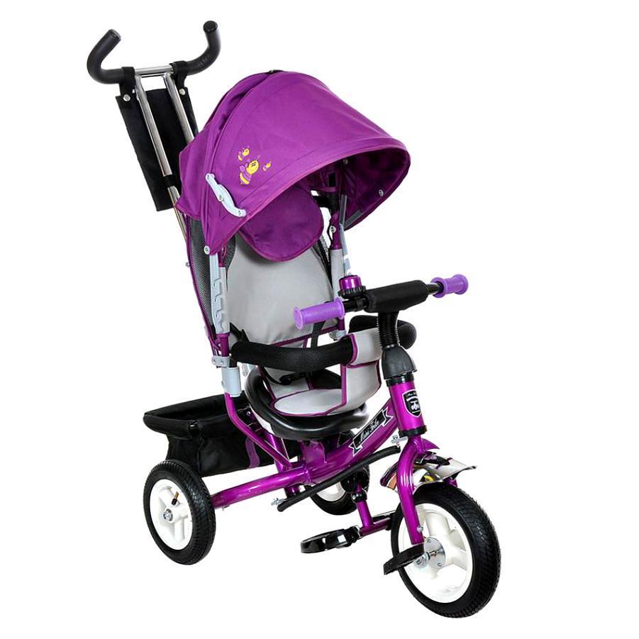 Велосипед трехколесный на надувных колесах Mini Trike 950D Фиолетово-серый