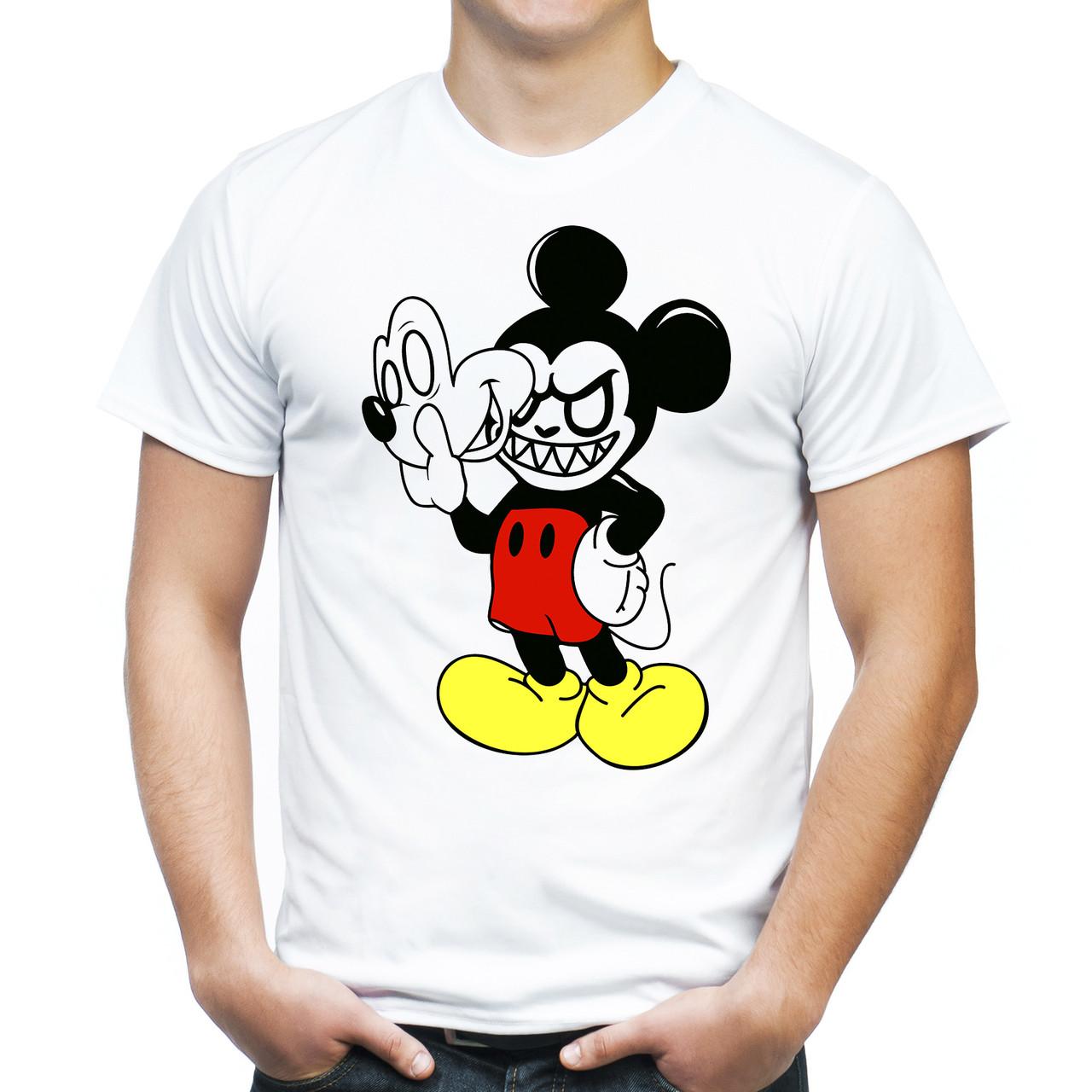 """Мужская футболка """"Злой Микки Маус"""""""