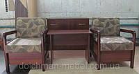 """Небольшое кресло """"Арабика"""" с деревянными подлокотниками на заказ, фото 1"""