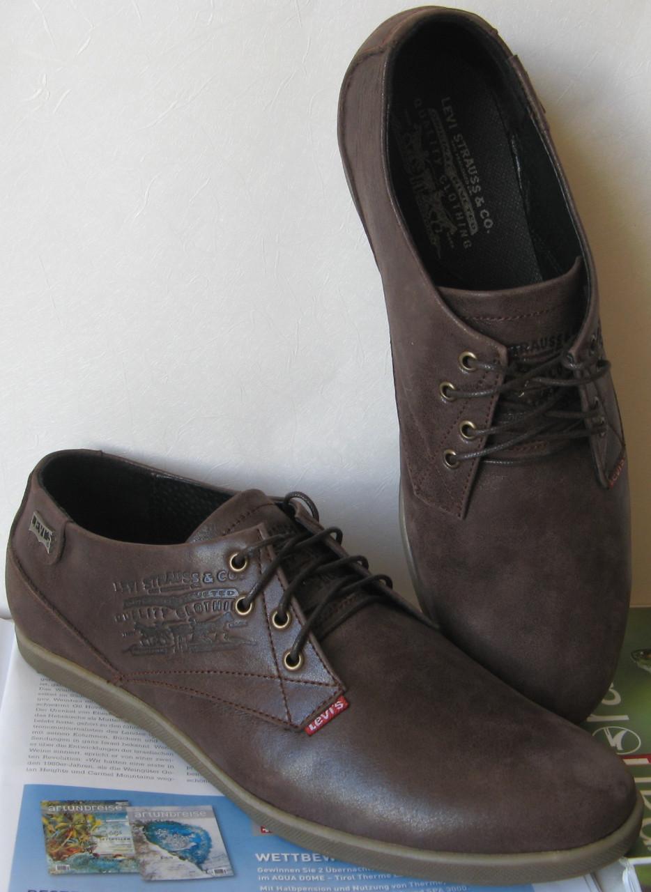 Levis туфли мужские коричневого цвета в стиле Левис кожа весна лето осень