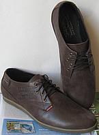 Levis туфли мужские коричневого цвета в стиле Левис кожа весна лето осень, фото 1