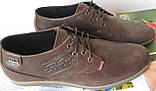 Levis туфли мужские коричневого цвета в стиле Левис кожа весна лето осень, фото 8