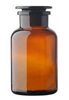 Бутыль 1000 мл с пришлифованной пробкой, широкое горло (темный)