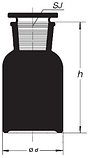 Бутыль 125 мл с пришлифованной пробкой, широкое горло (темный), фото 2