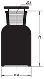 Бутыль 60 мл с пришлифованной пробкой, широкое горло (темный), фото 2