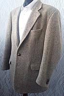 Твидовый пиджак Harris Tweed бежевый Шерсть