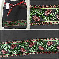 Вышитая юбка черного цвета с камушками, 38-44 р-ры, 325/265 (цена за 1 шт. + 60 гр)