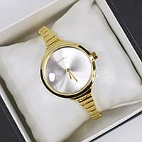 Часы женские наручные Calvin Klein Omnia золото с серебром, часы дропшиппинг