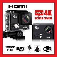 Отличная Action Camera 4K Pro4 WiFi. Высокое качество. Практичный дизайн. Удобная и компактная.  Код: КДН1771