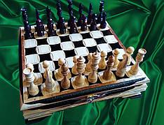 """Шахи """"Різьблена скринька"""" + шашки"""