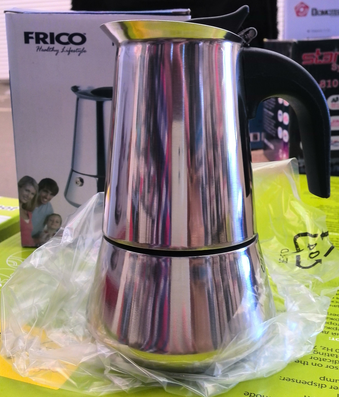 Гейзерная кофеварка FRICO FRU-176 (на 2 чашки) - Наш Маг - интернет магазин товаров для дома и быта в Харькове
