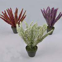 Вереск 29см в горшке   Цветы искусственные