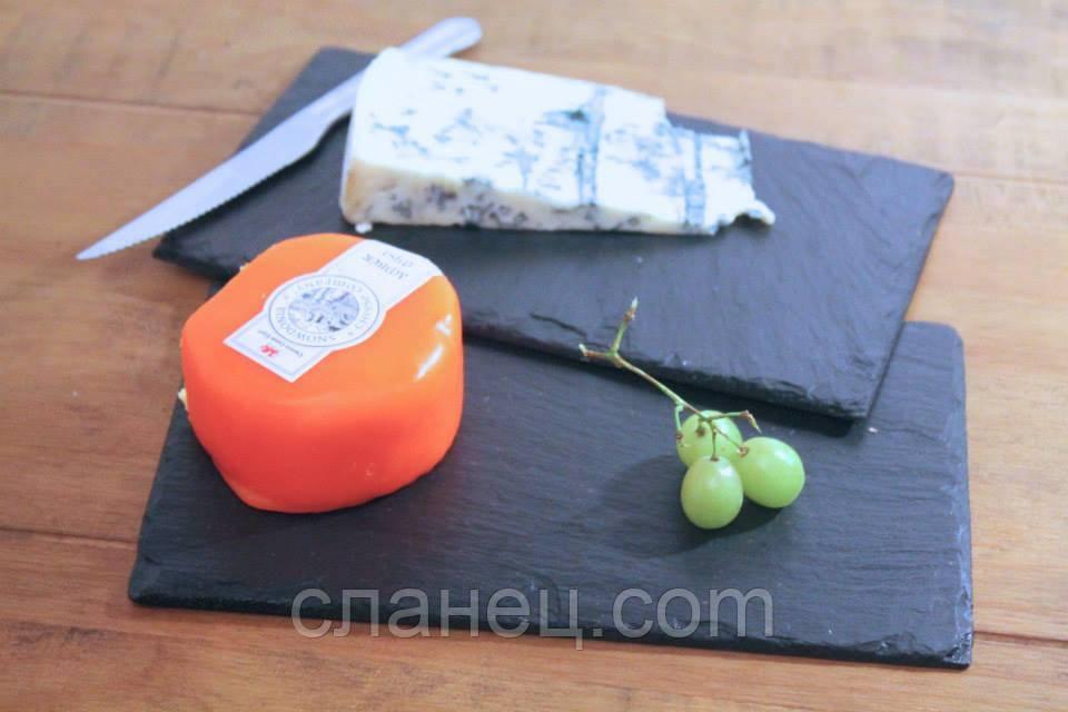Блюдо для подачи 4 шт. 20х9,3 см; прямоугольное, натур., сланец
