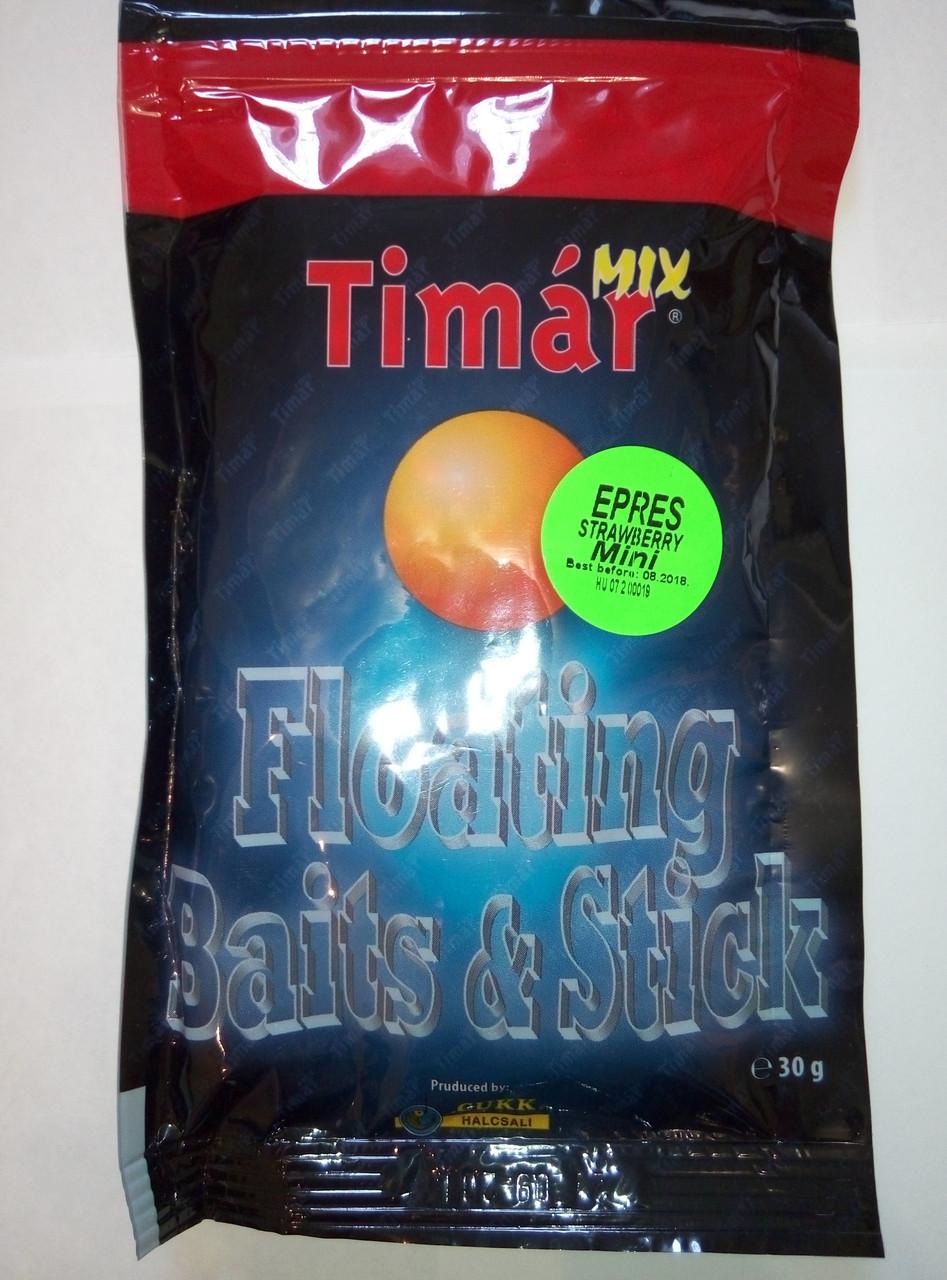 Прикормка воздушное тесто Timar  mix Клубника 30 г (наживка рыболовная)